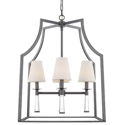 Indimar 4-Light Shaded Chandelier Finish: Oil Rubbed Bronze