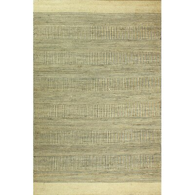 Hodge Hand-Knotted Cream/Gray Area Rug Rug Size: 76 x 96