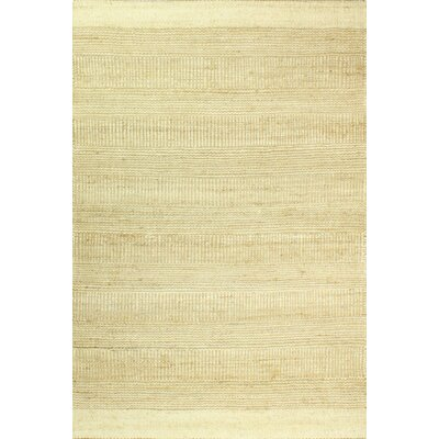 Hodge Hand-Knotted Cream Area Rug Rug Size: 76 x 96