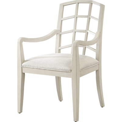 Edgerton Arm Chair (Set of 2) Arm Chair Finish: Canvas