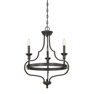 Jaycee 3-Light Candle-Style Chandelier