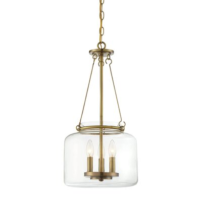 Jean-Baptiste 3-Light Foyer Pendant Finish: Warm Brass