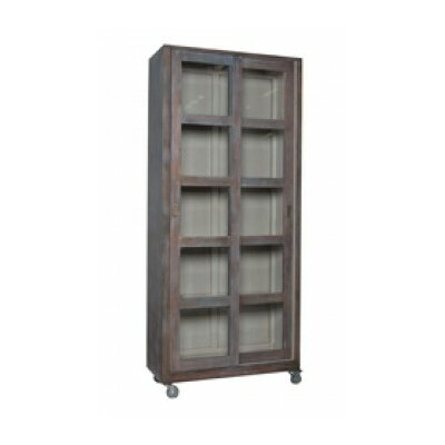 Neli Standard Display Stand Color: Heritage Gray Dark Stain/Manor Porch Rail