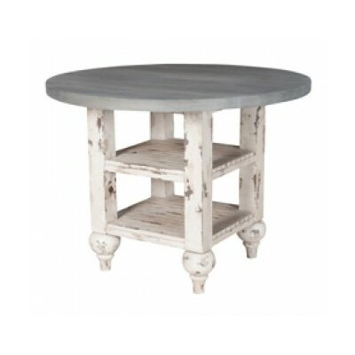 Thuan Drop Leaf End Table Finish: Waterfront Gray/Vintage White