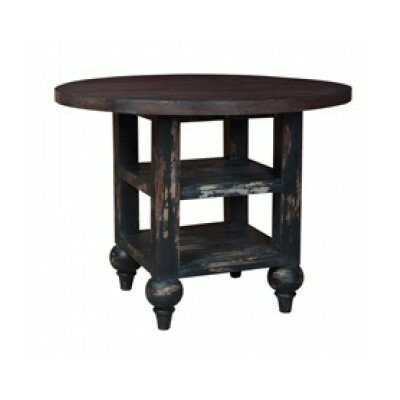 Thuan Drop Leaf End Table Color: Gray Stain/Light Distress