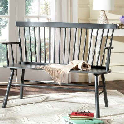 Serafin Wood Entryway Bench Finish: Gray