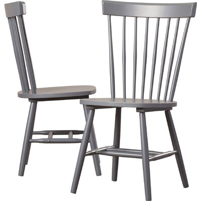 Saint-Pierre Solid Wood Dining Chair Finish: Charcoal Gray