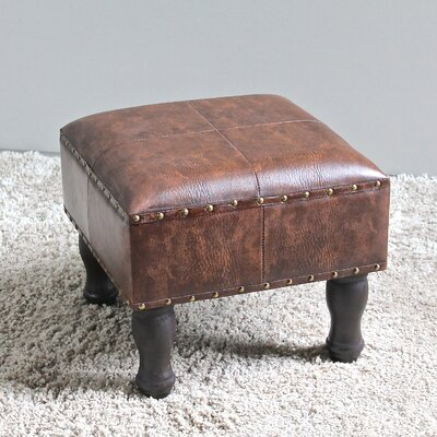 Serena Footstool Ottoman Upholstery: Brown