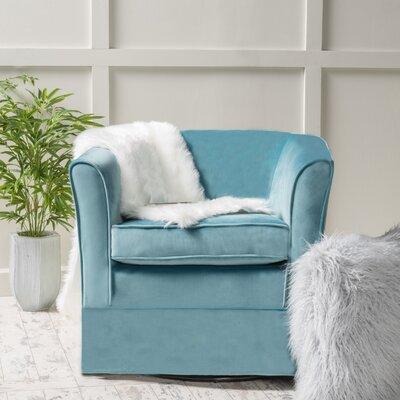 Sevan Swivel Barrel Chair Upholstery: Blue