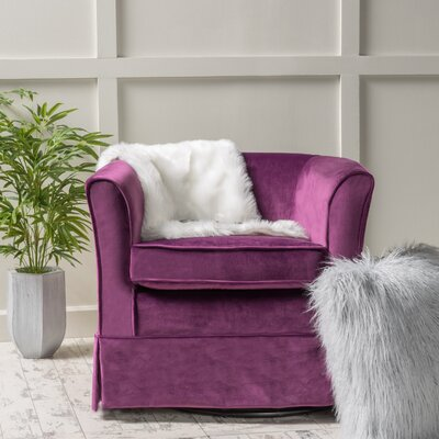 Sevan Swivel Barrel Chair Upholstery: Fuchsia