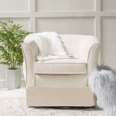 Sevan Swivel Barrel Chair Upholstery: Natural