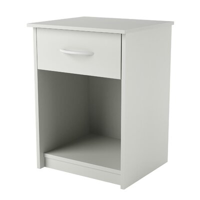 Shelley 1 Drawer Nightstand Color: White Stipple