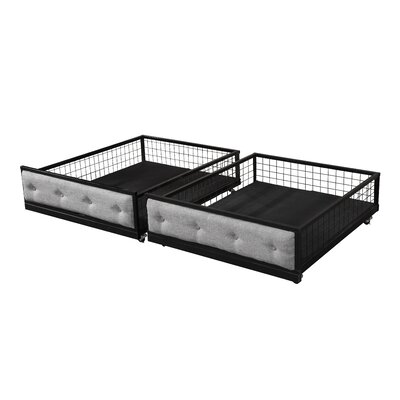 Sheridan Bunk Bed Drawers (Set of 2) Color: Black/Gray