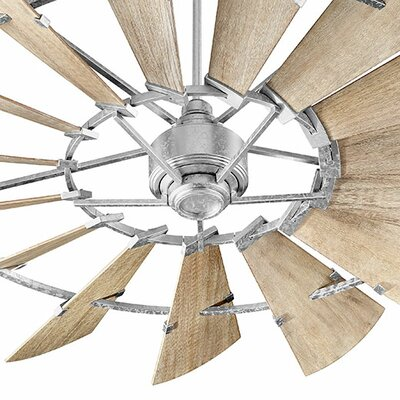 72 Windmill 15-Blade Ceiling Fan Finish: Galvanized