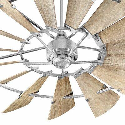 72 Windmill 15-Blade Ceiling Fan Finish: Galvanized