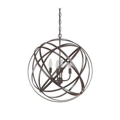 Kierra 4-Light Globe Pendant Finish: Russet