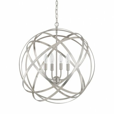 Kierra 4-Light Globe Pendant Finish: Brushed Nickel