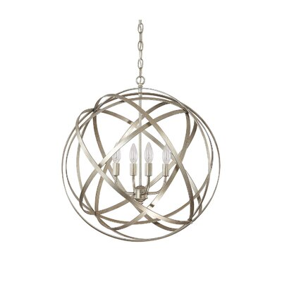 Kierra 4-Light Globe Pendant Finish: Winter Gold