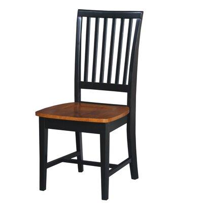 Kirsten Side Chair Finish: Black / Cherry