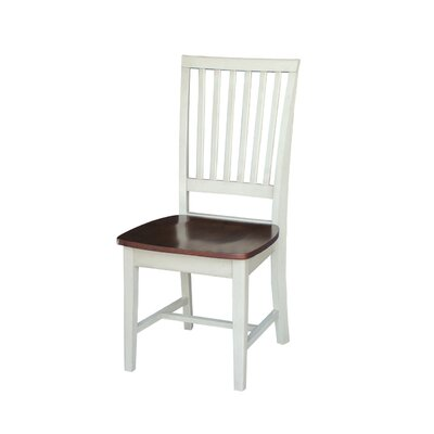 Kirsten Solid Wood Dining Chair Color: Antiqued Almond / Espresso