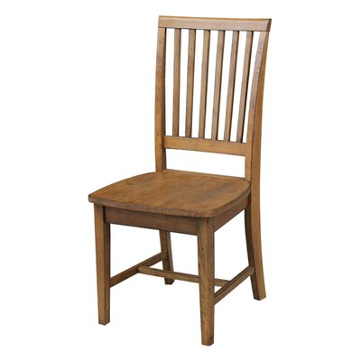 Kirsten Solid Wood Dining Chair Color: Pecan