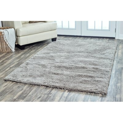 Lin Shag Hand-Tufted Gray Area Rug Rug Size: Rectangle 9 x 12