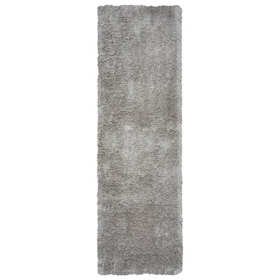 Lin Shag Hand-Tufted Dark Gray Area Rug Rug Size: Runner 26 x 10