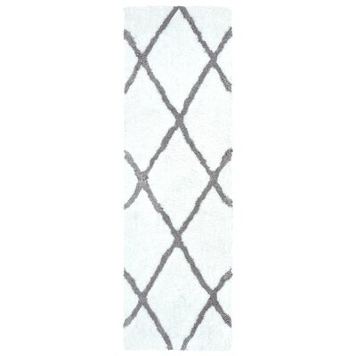 Lin Hand-Tufted Wool White Area Rug Rug Size: Rectangle 9 x 12
