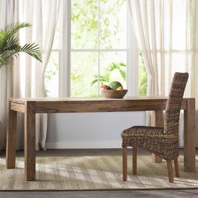 Norton Wood Kitchen Dining Table Finish: Natural Sheesham Wood