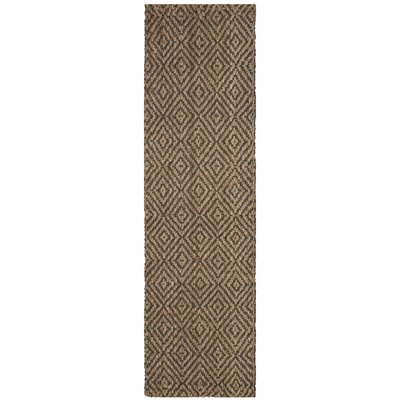 Grassmere Hand-Woven Natural/Grey Area Rug Rug Size: Runner 23 x 18