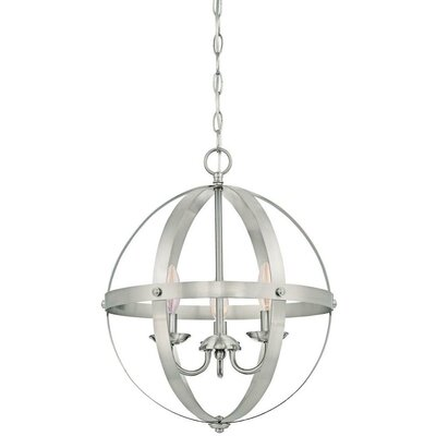 La Barge 3-Light Foyer Pendant Finish: Brushed Nickel