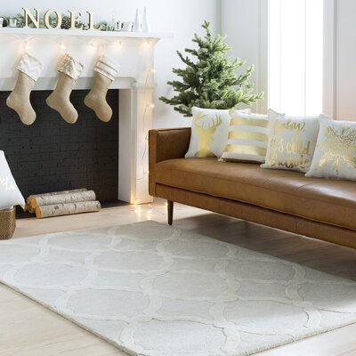 Labastide Hand-Tufted Beige Area Rug Rug Size: Rectangle 76 x 96
