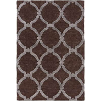 Labastide Hand-Tufted Brown Area Rug Rug Size: Round 36