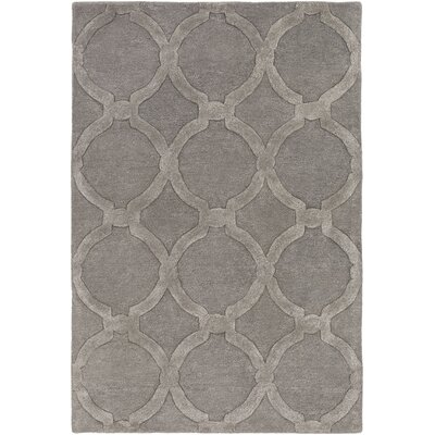 Labastide Hand-Tufted Charcoal Area Rug Rug Size: Rectangle 76 x 96