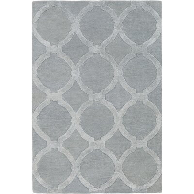 Labastide Hand-Tufted Light Gray Area Rug Rug Size: Round 6
