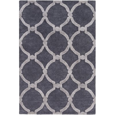 Labastide Hand-Tufted Purple Area Rug Rug Size: Rectangle 4 x 6