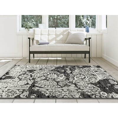 Grimes Gray Indoor/Outdoor Area Rug Rug Size: 5 x 7