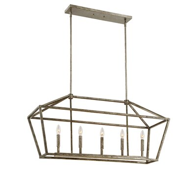 Freemont 5-Light Foyer Pendant Finish: Antique Silver