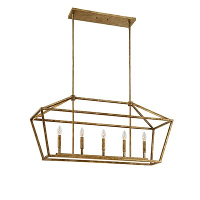 Freemont 5-Light Foyer Pendant Finish: Vintage Gold