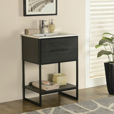 Frieda 24 Single Vanity Set Base Finish: Espresso
