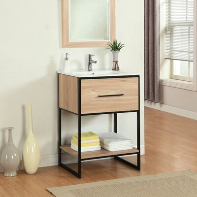 Frieda 24 Single Vanity Set Base Finish: Maple