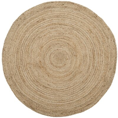 Mammoth Hand-Woven Natural Area Rug Rug Size: Round 4 x 4