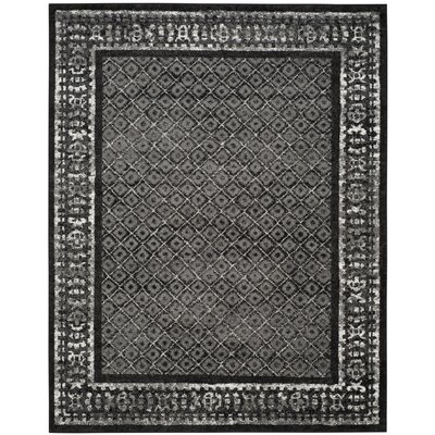 Timothee Black/Silver Area Rug Rug Size: 6 x 9