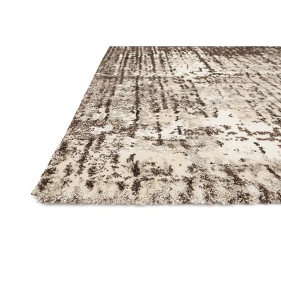 Parinaaz Ivory & Brown Rug Rug Size: 92 x 127