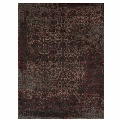 Khemis Charcoal/Red Rug Rug Size: 5'3