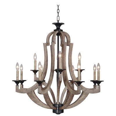 Marcoux 12-Light Candle-Style Chandelier