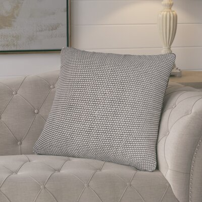 Edna Cotton Throw Pillow Color: Ivory