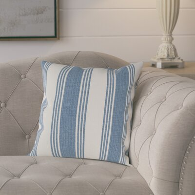 Elencourt 100% Cotton Throw Pillow Cover Color: DenimCream, Size: 20 H x 20 W x 1 D