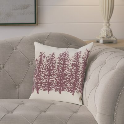 Amak Through the Woods Flower Print Throw Pillow Size: 16 H x 16 W, Color: Purple