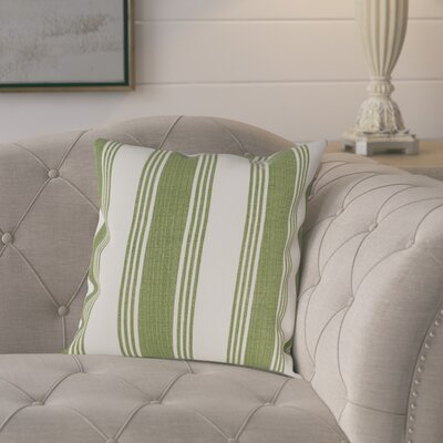 Elencourt 100% Cotton Throw Pillow Cover Size: 22 H x 22 W x 0.25 D, Color: GreenNeutral